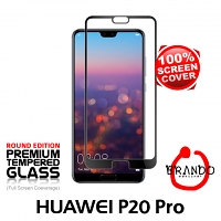 Brando Workshop Full Screen Coverage Glass Protector (Huawei P20 Pro) - Black