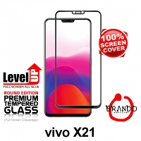 Brando Workshop Full Screen Coverage Glass Protector (Vivo X21) - Black