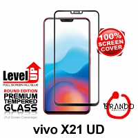 Brando Workshop Full Screen Coverage Glass Protector (Vivo X21 UD) - Black