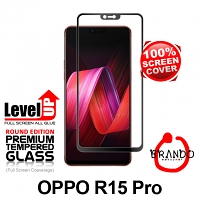 Brando Workshop Full Screen Coverage Glass Protector (OPPO R15 PRO) - Black