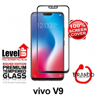 Brando Workshop Full Screen Coverage Glass Protector (vivo V9) - Black