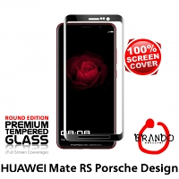 Brando Workshop Full Screen Coverage Curved Glass Protector (Huawei Mate RS Porsche Design) - Black