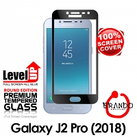 Brando Workshop Full Screen Coverage Glass Protector (Samsung Galaxy J2 Pro (2018)) - Black