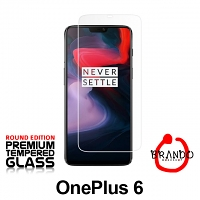 Brando Workshop Premium Tempered Glass Protector (Rounded Edition) (OnePlus 6)
