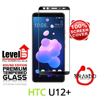 Brando Workshop Full Screen Coverage Glass Protector (HTC U12+) - Black