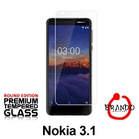 Brando Workshop Premium Tempered Glass Protector (Rounded Edition) (Nokia 3.1)