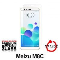 Brando Workshop Premium Tempered Glass Protector (Rounded Edition) (Meizu M8c)