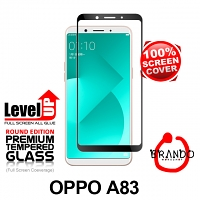 Brando Workshop Full Screen Coverage Glass Protector (OPPO A83) - Black