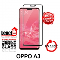 Brando Workshop Full Screen Coverage Glass Protector (OPPO A3) - Black