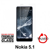 Brando Workshop Premium Tempered Glass Protector (Rounded Edition) (Nokia 5.1)
