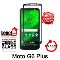 Brando Workshop Full Screen Coverage Glass Protector (Motorola Moto G6 Plus) - Black