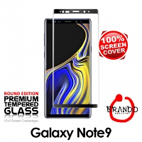 Brando Workshop Full Screen Coverage Curved Glass Protector (Samsung Galaxy Note9) - Black