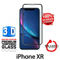 Brando Workshop Full Screen Coverage Curved 3D Glass Protector (iPhone XR 6.1) - Black