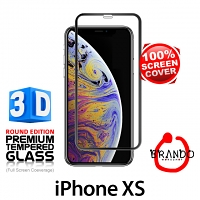 Brando Workshop Full Screen Coverage Curved 3D Glass Protector (iPhone XS 5.8) - Black