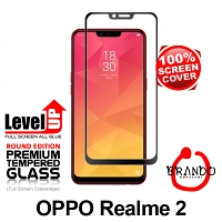 Brando Workshop Full Screen Coverage Glass Protector OPPO Realme 2 - Black