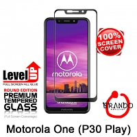 Brando Workshop Full Screen Coverage Glass Protector (Motorola One (P30 Play)) - Black