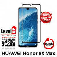Brando Workshop Full Screen Coverage Glass Protector (Huawei Honor 8X Max) - Black