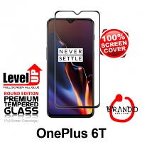 Brando Workshop Full Screen Coverage Glass Protector (OnePlus 6T) - Black