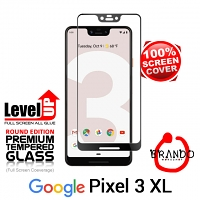 Brando Workshop Full Screen Coverage Glass Protector (Goolge Pixel 3 XL) - Black