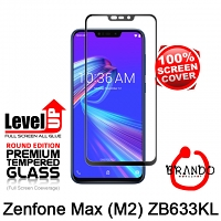 Brando Workshop Full Screen Coverage Glass Protector (Asus Zenfone Max (M2) ZB633KL) - Black