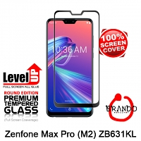 Brando Workshop Full Screen Coverage Glass Protector (Asus Zenfone Max Pro (M2) ZB631KL) - Black