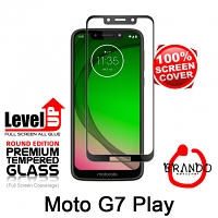 Brando Workshop Full Screen Coverage Glass Protector (Motorola Moto G7 Play) - Black