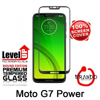 Brando Workshop Full Screen Coverage Glass Protector (Motorola Moto G7 Power) - Black