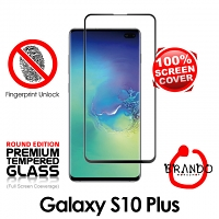 Brando Workshop Full Screen Coverage Curved Glass Protector (Samsung Galaxy S10+) - Black