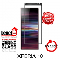 Brando Workshop Full Screen Coverage Glass Protector (Sony Xperia 10) - Black