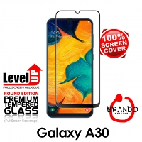 Brando Workshop Full Screen Coverage Glass Protector (Samsung Galaxy A30) - Black