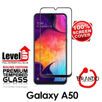 Brando Workshop Full Screen Coverage Glass Protector (Samsung Galaxy A50) - Black