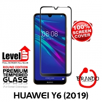 Brando Workshop Full Screen Coverage Glass Protector (Huawei Y6 (2019)) - Black