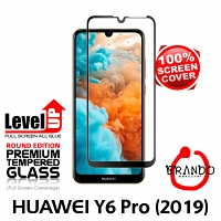 Brando Workshop Full Screen Coverage Glass Protector (Huawei Y6 Pro (2019)) - Black