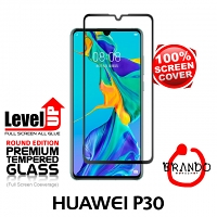 Brando Workshop Full Screen Coverage Glass Protector (Huawei P30) - Black