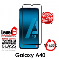 Brando Workshop Full Screen Coverage Glass Protector (Samsung Galaxy A40) - Black