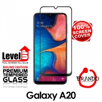 Brando Workshop Full Screen Coverage Glass Protector (Samsung Galaxy A20) - Black
