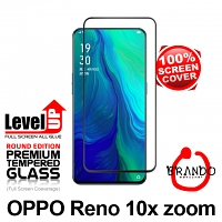 Brando Workshop Full Screen Coverage Glass Protector (OPPO Reno 10x Zoom) - Black