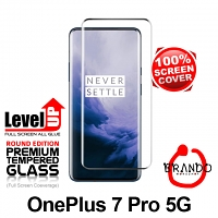Brando Workshop Full Screen Coverage Glass Protector (OnePlus 7 Pro 5G) - Black