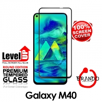 Brando Workshop Full Screen Coverage Glass Protector (Samsung Galaxy M40) - Black