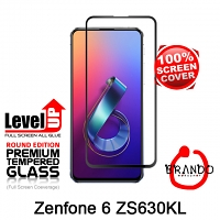 Brando Workshop Full Screen Coverage Glass Protector (Asus Zenfone 6 ZS630KL) - Black