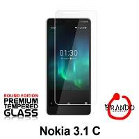 Brando Workshop Premium Tempered Glass Protector (Rounded Edition) (Nokia 3.1 C)