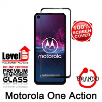 Brando Workshop Full Screen Coverage Glass Protector (Motorola One Action) - Black