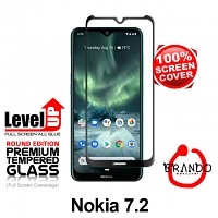 Brando Workshop Full Screen Coverage Glass Protector (Nokia 7.2) - Black