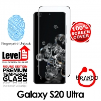 Brando Workshop Full Screen Coverage Curved Glass Protector (Samsung Galaxy S20 Ultra) - Black