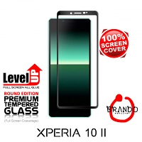 Brando Workshop Full Screen Coverage Glass Protector (Sony Xperia 10 II) - Black