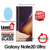 Brando Workshop Full Screen Coverage Curved Glass Protector (Samsung Galaxy Note20 Ultra) - Black