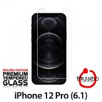Brando Workshop Premium Tempered Glass Protector (Rounded Edition) (iPhone 12 Pro (6.1))