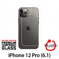 Brando Workshop Premium Tempered Glass Protector (Rounded Edition) (iPhone 12 Pro (6.1) - Back Cover)