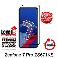 Brando Workshop Full Screen Coverage Glass Protector (Asus Zenfone 7 Pro ZS671KS) - Black