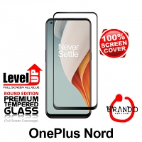 Brando Workshop Full Screen Coverage Glass Protector (OnePlus Nord) - Black